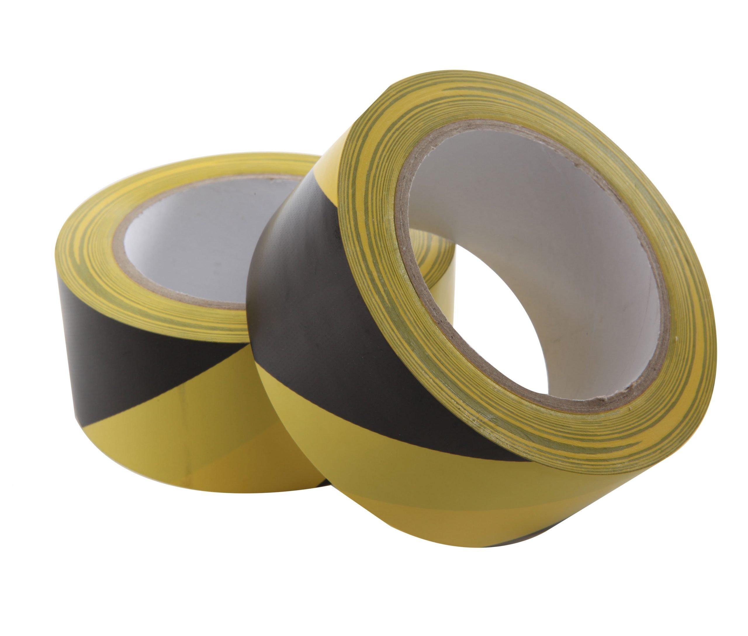 Vloermarkeringstape geel-zwart streep